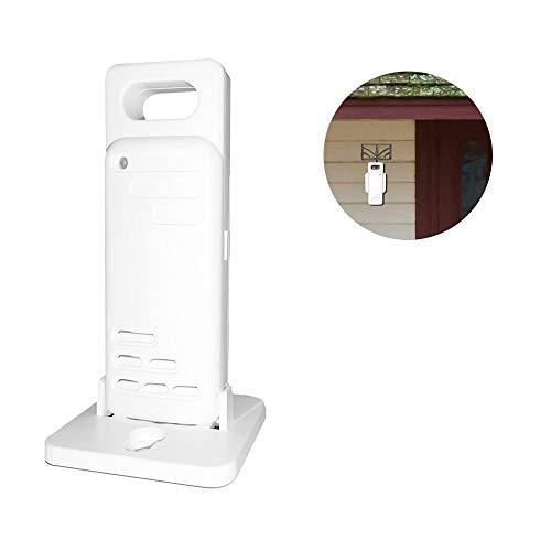 Lemonbest Indoor Outdoor Thermometer, Digitale Draadloze Hygrometer Temperatuur en Vochtigheid Monitor met Touch LCD-scherm en Temperatuur Gauge Meter 200ft/60m Bereik voor Home Office Babykamer