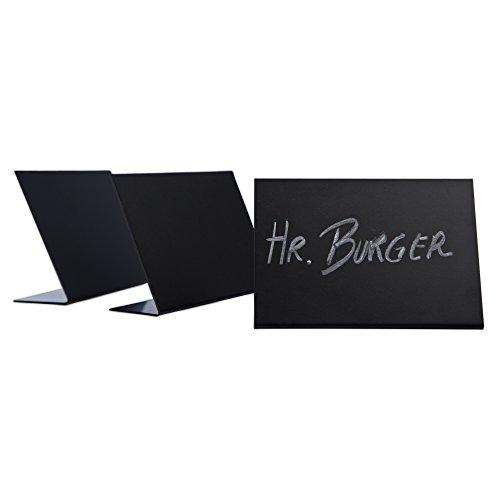 10 x Schieferlack L-Aufsteller/Preisschilder/Tafeln schwarz | DIN A7 quer