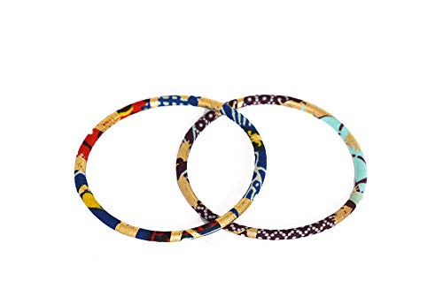 Pendientes de diseño de tejido wax africano, 100% algodón, hechos en Francia, amarillo, rojo, negro, joyas coloridas elegantes hechas a mano, idea regalo original para mujer Boutique Mansaya