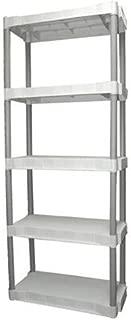 Plano Heavy-Duty Plastic 5-Shelf Storage Unit, Light Taupe by Plano