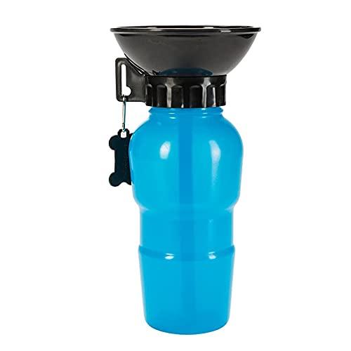 Bouteille d'eau pour Chien de 500 ML, Bouteille d'eau Portable pour Chien, Bouteille d'eau Portable pour Animaux de Compagnie, Utilisé pour Le Camping, la Marche, la Randonnée (Bleu)