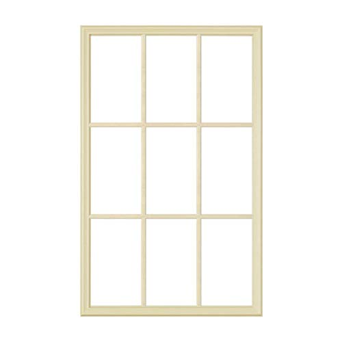 "ODL Exterior Front Door Replacement Frame Set for 1"" Thick Door Windows - Home Improvement - 24"" x 38"" - 9 Light Grid Pattern - No Glass Included"