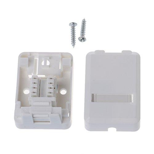 RJ-Box met Cat6-module desktopbox single-poort-paneel voor RJ45-RJ11-AMP-Mount
