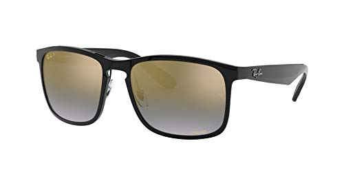 Fashion Shopping Ray-Ban Men's Rb4264 Chromance Mirrored Square Sunglasses