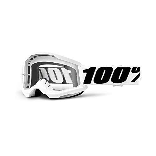 100 Percent STRATA 2 Goggle Everest-Clear Lens, Adultos Unisex, Blanco, ESTANDAR