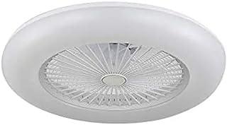 BEL AIR HOME - Ventilateur plafonnier LED série KIRA 3000K-4000K-6500K avec télécommande et contrôle à traverses d'App (Bl...