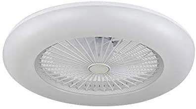 BEL AIR HOME - Ventilador Plafón Led serie KIRA 3000K-4000K-6500K Con Mando a Distancia y Control a Través de App (Blanco)