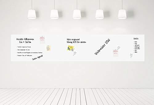 KaRoFoilFIX® Selbstklebende Magnetische Whiteboard Folie   Weißwandtafel   Whiteboard   Schreibtafel   Wandfolie   Multifunktionstafelfolie   Farbe: Weiß (100x250 cm)