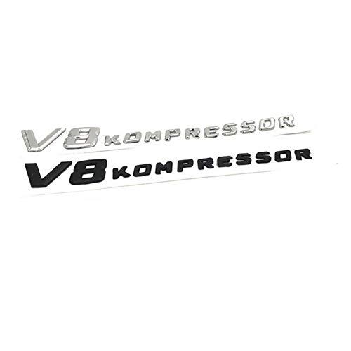 SBCX Für Mercedes Benz AMG, Chrom/Mattschwarz V8 Kompressor Kunststoff Auto Kofferraum Rückseite Buchstaben Abzeichen Emblem Embleme Aufkleber Aufkleber