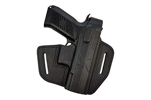 VlaMiTex B18 Black Leather Holster Fits CZ P07 Duty