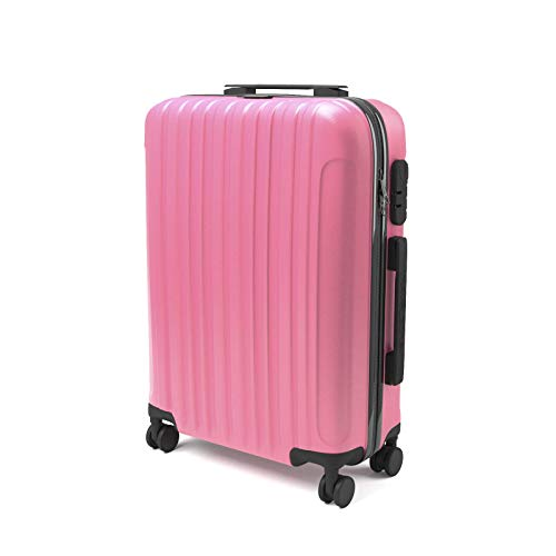 Trolley, equipaje de mano Sammyy, 43 litros, 55x 35x 20cm, apto para vuelos Low Cost, Equipaje de cabina Ryanair Rosa Rosa