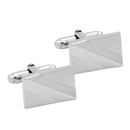 1 Paar elegante Manschettenknöpfe Silbern Manschette Manschettenknopf für Oberhemd Herrenschmuck