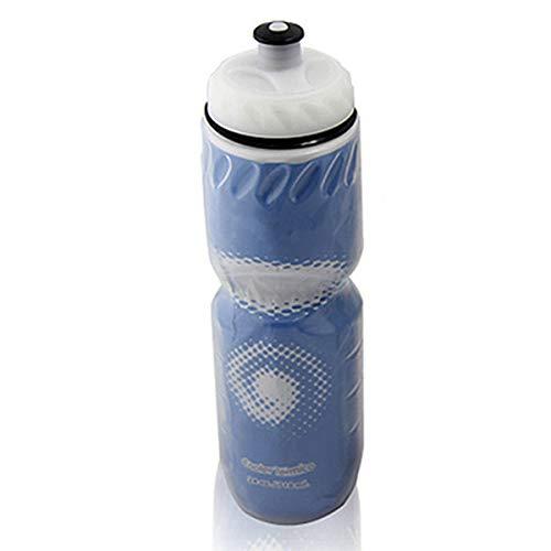 SANON 710 Ml Zweischichtige Kunststoffisolierte Wasserflasche für Den Außenbereich - Blau