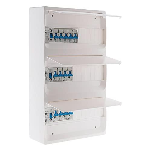 Coffret T5 39 modules Blanc équipé de 13 disjoncteurs et 3 inter. diff. livré avec accessoires - Zenitech