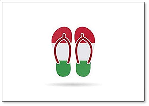 Hongarije Vlag Flip Flop Sandalen - Koelkast Magneet