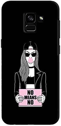Cover It Up - No Means No Galaxy A8 Plus Hard Case