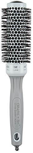 Olivia Garden Rundhaarbürste Ceramic + Ion 35, antistatische Ionen-Rundhaarbürste mit Keramikkörper und Nylonborsten, 35/ 50 mm