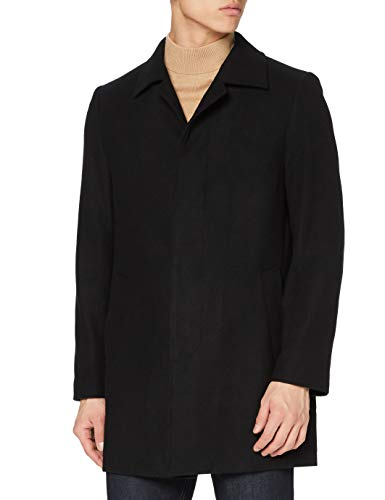 find. Cappotto Lungo in Lana Uomo, Black (Black), XL, Label: XL