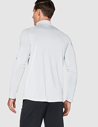 Under Armour Tech 2.0 1/2 Zip, Versatile Warm Up Top for Men, Light and Breathable Zip Up Top for Working Out Men, Halo Gray/White, XL