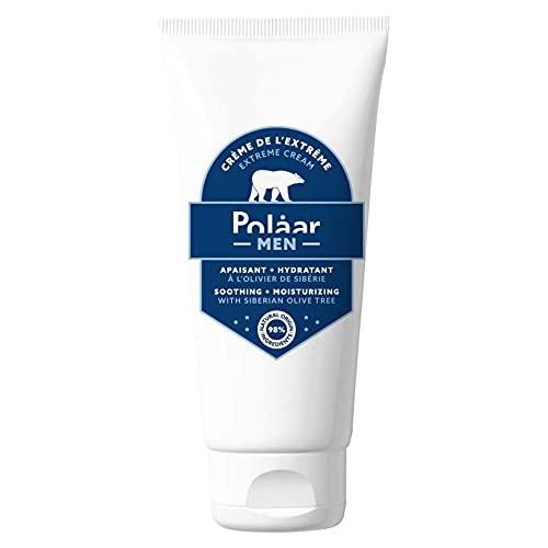 Polåar Men - Crema de lo Extremo, Cuidado facial calmante e hidratante con Olivo Siberiano - 50 ml - Diario - Hombre - Matificante - Después del afeitado - 98% natural - Vegano - After shave
