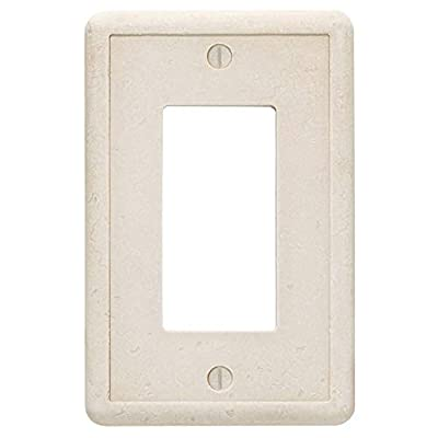 Single Rocker - Sand Light Switch Cover Cast Stone Textured Outlet Cover Wall Plate