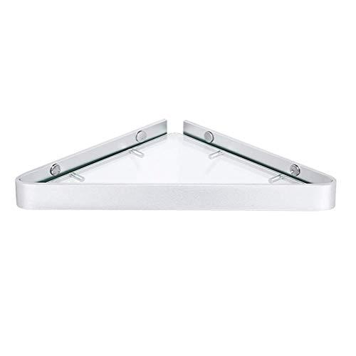 Colgante en la pared, 7 mm de vidrio baño esquina estante pared ducha almacenamiento rack baño triangular Accesorios 25 cm 1226