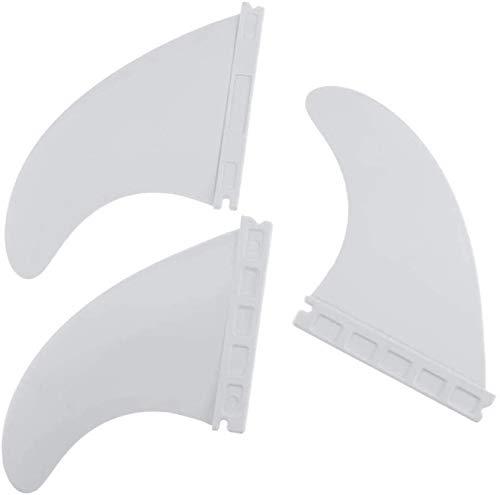 SGerste Surf SUP aleta longboard surf aletas accesorios de repuesto para surf deportes acuáticos 3pcs (blanco)