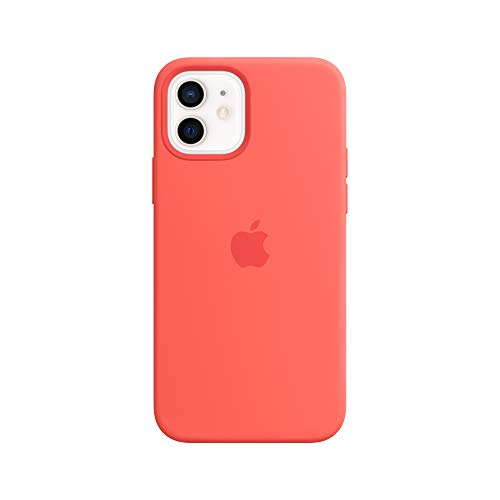 Apple Coque en Silicone avec MagSafe (pour iPhone12, 12Pro) - Rose agrume