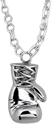 Halskette Anhänger Kette Halskette Frauen Männer Halskette Anhänger Halskette Vintage Gold / Silber Mini Boxhandschuh Halskette Personalisierte Match Schöne Schmuck Anhänger Halskette-Silber Geschenk