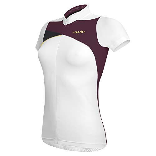 Zero RH+ Trinity W, Abbigliamento Woman Bike Jersey Donna, White/Grape Violet/Black, XL
