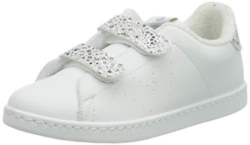 victoria 1125234-KIDS Sneaker Tennis Vegan Flatform Bambina Plata 28