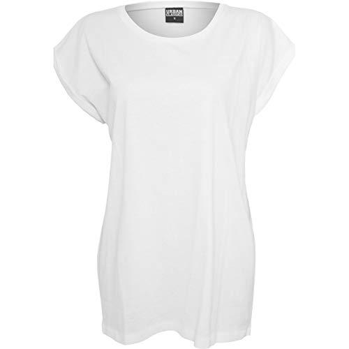 Urban Classics Damen Ladies Organic Extended Shoulder Tee T-Shirt, Weiß (White 00220), X-Small (Herstellergröße: XS)