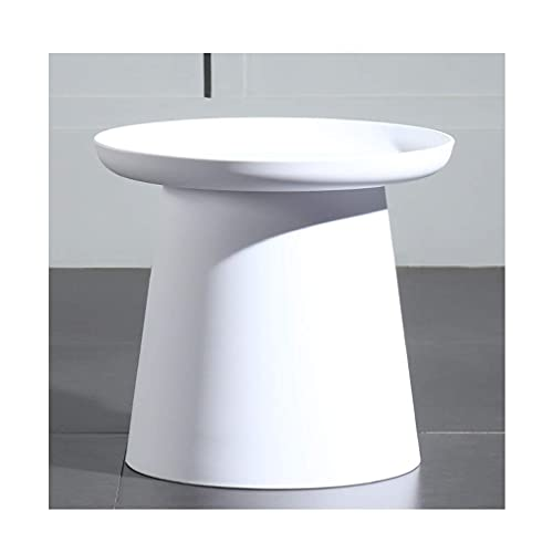 Furniture Coffee Table Round Side Table Geometric Contemporary Coffee Tables for Small Spaces Easy to Clean Dining Table Save Space Side Table living room (Color : White, Size : Small)