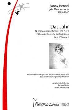 DAS JAHR - 12 CHARAKTERSTUECKE - arrangiert für Klavier [Noten/Sheetmusic] Komponist : HENSEL FANNY