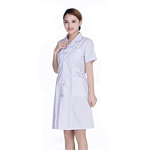 Miaoao-HL Vrouwen Verpleegkundige Uniform, Verpleging Top Werkkleding Korte Mouw Medische Kleding Lab Jas Werk Pak Jurk