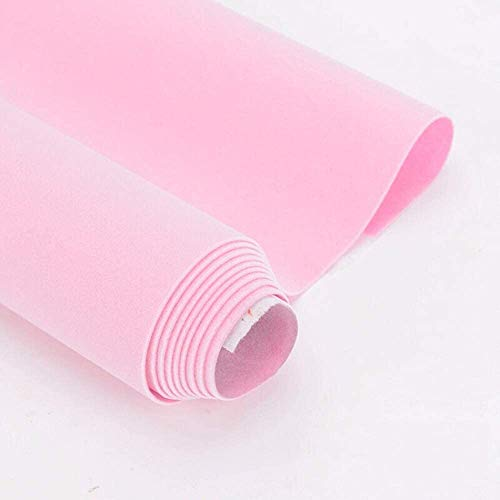 Product Image of the 4.3x98 Inches Self Adhesive Velvet Fabric Shelf Liner for Jewelry Drawer Crafts DIY (Pink, 4.3x98 Inches)