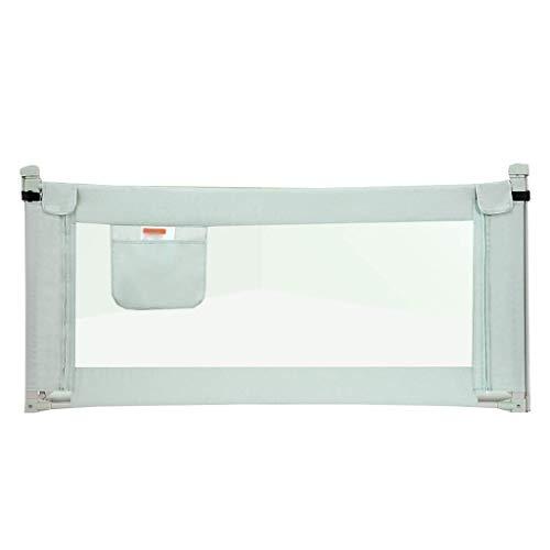YXZQ Bettgitter für Doppelbett/Doppelbett/Doppelbett/Queensize-/ Kingsize-Bett/Faltbare Schutzschienen für Jungen/Kleinkinder/Babys, 180 cm, Grün, Length 180cm