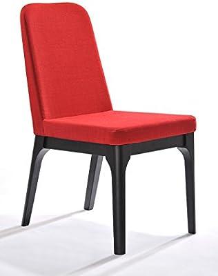Amazon.com - Casabianca Aldo Leather Dining Chair in Orange ...