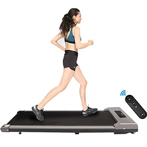 Motorised Treadmill Portable Walking Running Pad Under Desk Electric Treadmill Walking Machine with Remote Control and LED Display Electric Motorised Folding Running Machine for Home Use GYM