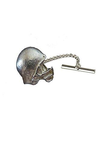 Giftsforall gt243 Krawattennadel mit Kette, NFL American Football Helm, 3 x 2,3 cm, aus englischem Zinn
