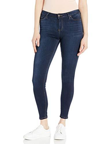Celebrity Pink Jeans Women's Soft Short Inseam Skinny Jeans, Queen Super Dark, 5