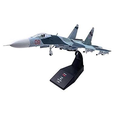 Almencla 1:100 Sukhoi Su-27 Fighter Attack Aircraft Model Plane Toy Collectibles