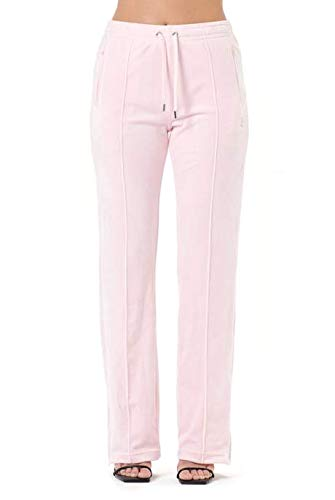 JUICY Couture Pantalone Rosa CINIGLIA Logo Strass M