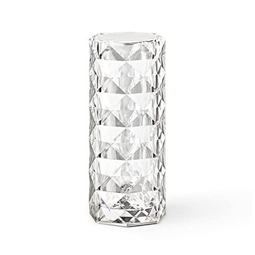 クリスタルダイヤモンドLEDデスクライトタッチベッドルームベッドサイドランプロマンチックなバラのナイトライトUSB充電式 16色(スイッチ制御(充電なし))
