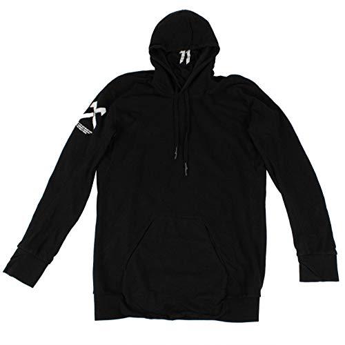11 By Boris Bidjan Saberi Men's Textu 'Cross' Hoodie Sweatshirt L Black