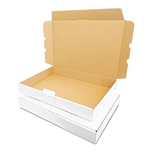 Verpacking, 50 maxibriefdozen, 350 x 250 x 50 mm, DIN A4, wit, MB-5, maxibrief voor het verzenden van goederen DHL DPD GLS Hermes, pakketten, verzenddoos, boekenverzending