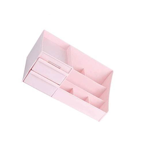 SCDZS Acrílico Organizador de la joyería y del almacenaje del cosmético, Caja Grande del Organizador de los cosméticos del Estante del Carrito de la Capacidad, Mejor for la encimera