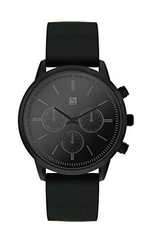 Spirit Mens analoog klassieke quartz horloge met siliconen band ASPG24