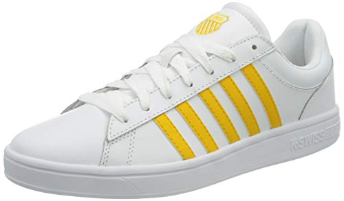 K-Swiss Damen Court Winston Sneaker, White/Old Gold, 42 EU