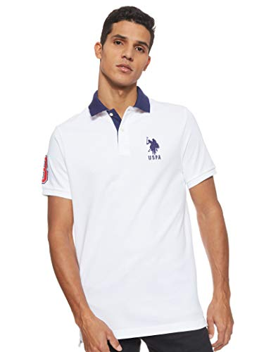U.S Mens Short Sleeve Classic Fit Solid Pique Polo Shirt Polo Assn